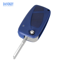 Dandkey Flip Remote 3 Buttons Car Cover Key Shell For FIAT Punto Ducato Stilo Panda Idea Doblo Bravo Keyless Fob Case(China)