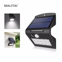 Novelty LED Solar lamp light Powered by Solar Panel Motion Sensor / CDS Night Sensor For Outdoor Garden Security Emergency Bulb(China)