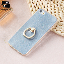 TAOYUNXI Cases Glitter Silicon For Apple iPhone SE iPhone 5 5S 5G 55S 6C iPhone55s 4.0 inch Case Soft TPU Finger Ring Phone Case(China)