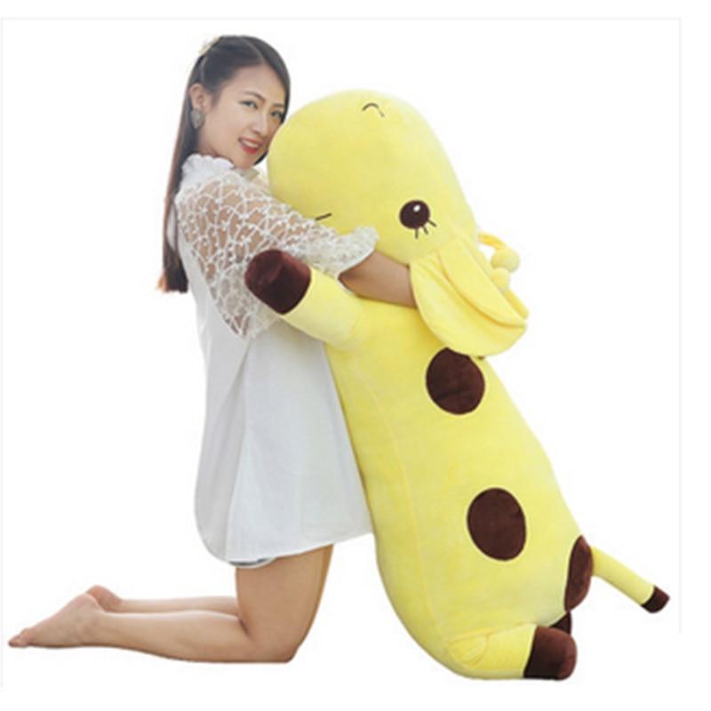 Fancytrader Giant Plush Animal Giraffe Toy Stuffed Soft Plush Large Lying Giraffe Doll Pillow 130cm 51incehs Yellow Green Blue<br><br>Aliexpress