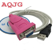 Usb Rs232 Female cable USB to DB9 female  serial port holes 9 holes COM Computer cable 1.5m New with the CD driver  WhoesaleAQJG