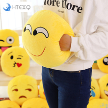 Emoji Decorative Throw Pillow Warm hands Stuffed Smiley Cushion Home Decor Emotional Smile Face Doll as gift(China)
