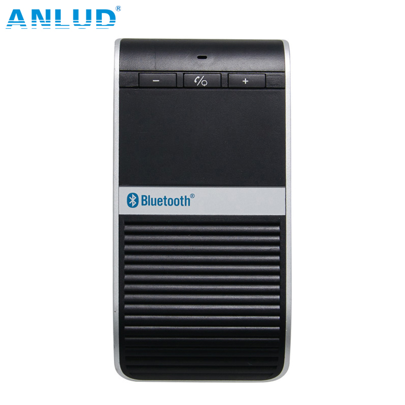 Wireless Bluetooth4.0 Car Kit Handsfree Headset Solar Powered Charger Speaker Headphone for iPhone Samsung mobile phone<br><br>Aliexpress