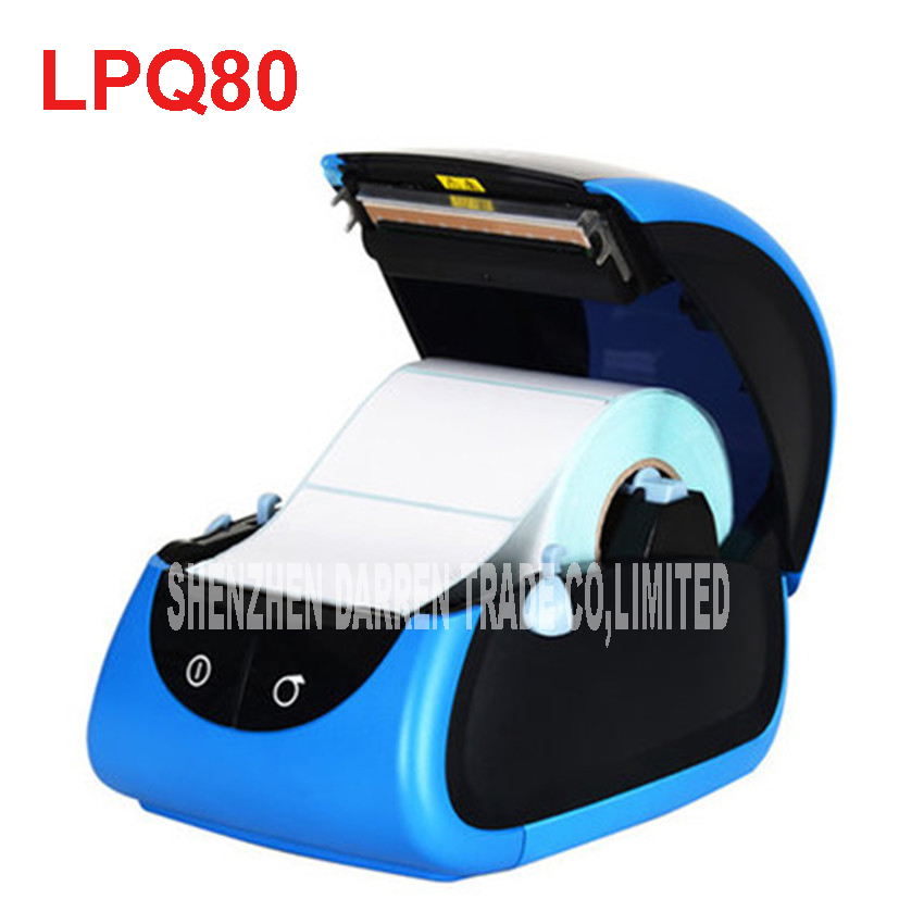 LPQ80 thermal bar code printer sticker labeling machine clothing tag price tag stickers paper cash register small ticket printer<br>