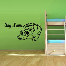 Personalised Baby Crocodile Vinyl Wall Sticker Any Name Bedroom Kids Wall Art Decals Living Room Home Decoration Accessories