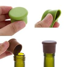 Bottle wine stopper food grade silicone storage vacuum reusable fresh-keeping lid leak-proof bottle cap stoppers 3*2.6cm(China)