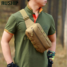 Field Tactics Chest Pack Men OutsideTrekking Shoulder Flyye Man Ride Pochete Waist Bag Waterproof Nylon Bags MOLLE Hunting bag(China)