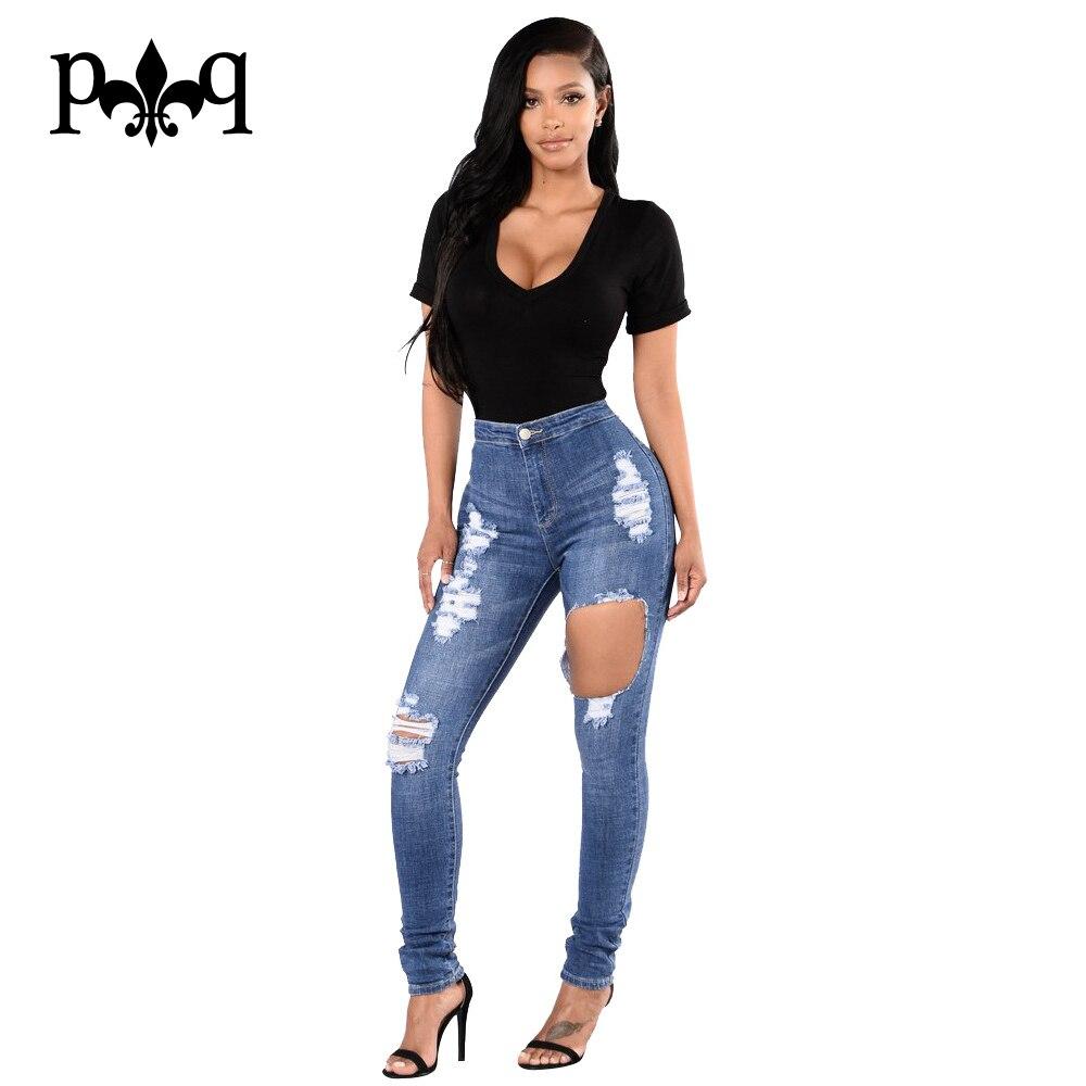 Hole Ripped Jeans For Women Mid Waist Skinny Jeans Woman Pencil Pants  Casual Denim Pants Femme Plus Size Pantalon FemmeОдежда и ак�е��уары<br><br><br>Aliexpress