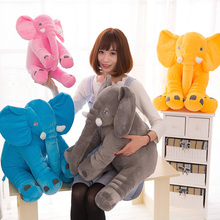 28cm*33cm Large Plush Elephant 6 color Toy Kids Sleeping Back Cushion Elephant Doll Baby Doll Birthday Gift Holiday Gift