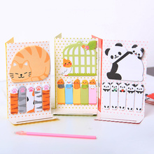 2PCS Cute Cat Panda N Times Sticky Notes Memo Pad Paper Sticker Post It Notepad Gift Office Stationery Escolar(China)