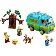 Bela 10430 Scooby Doo the Mystery Machine Bus Building Block Set Fred Shaggy Zombie Kids Toy Compatible with Lego 75902