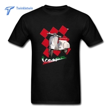 Hot Sale Men's Vespa T Shirt New Coming Men Designed Tee Shirt 100% Cotton Man Vespa T-shirts Teenage Youth O Neck T Shirts