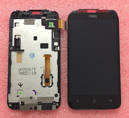 100% Geniune LCD screen display + touch panel digitizer with frame For HTC desire VC T328d black Free shipping<br><br>Aliexpress