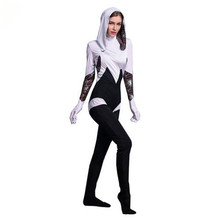 Adogirl Spiderman Halloween Costume Spider Jumpsuit Show Shooting Clothes For Women Dance Parties Cosplays(China)