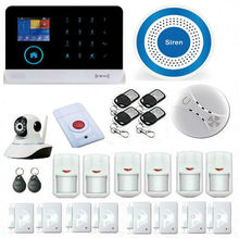 HD IP Camera Surveillance APP Wireless GSM RFID Arm/Disarm Alarm Systems Security Home WIFI GSM Home Intrusion Alarmas