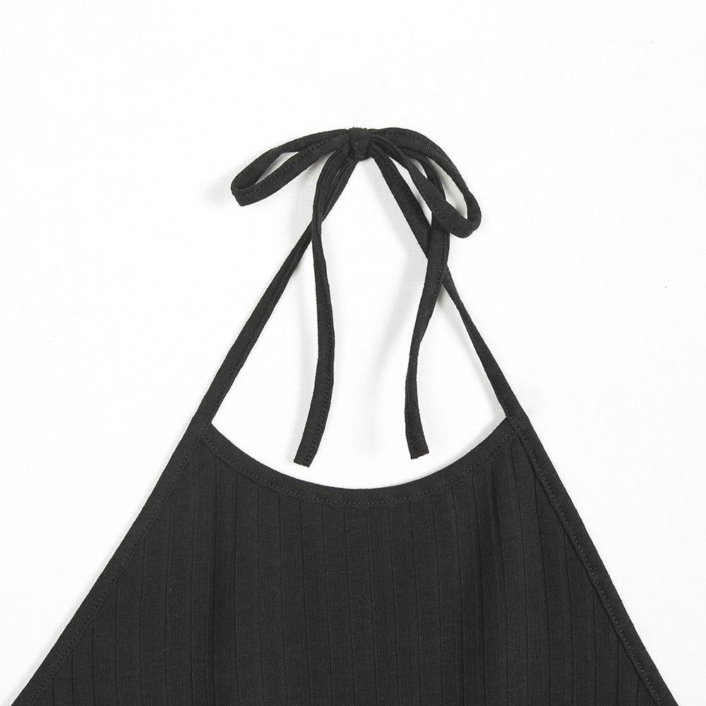 Women Sexy Club Backless Spaghetti Strap Summer Dress 2018 Cotton Ladies Elastic Bodycon Black Yellow Party Mini Dresses Vestido 12