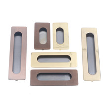 1pc Door Handle Vintage Stainless Steel Cast Iron Door Sliding Cabinet case box Rectangular Hardware Drawer For Home Tools(China)