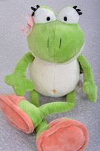 Hot Germany Nici The Frog Prince Cute Frog Plush Toy Big 50cm Children Lovers Birthday Christmas Present Free Shipping 1pcs