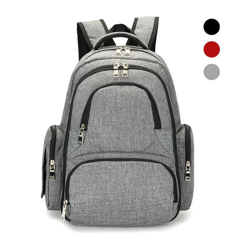 Maternity Diaper Bag Large Capacity Baby Bag Travel Backpack with changing pads stroller hook Nappy Nursing Bag for baby care D3<br>