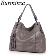 Burminsa Brand 100% Genuine Leather Bags Women's Large Patchwork Hobo Designer Handbags Tote Purse Shoulder Messenger - Stylish Store store