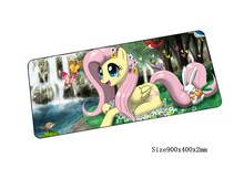 my little pony mouse pad locked edge pad to mouse notbook computer mousepad anime gaming padmouse gamer to keyboard mouse mats(China)