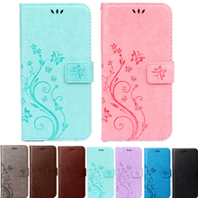 Hot Butterfly Fly Flower Leather Flip Wallet Cell Phone Case Soft Cover for Sony Xperia M2 Z3 Z4 Z5 Compact X XC XP XA XZ