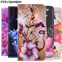 Book Art Painted Flip Wallet Leather Cover Soft Case for Samsung galaxy A3 A5 A7 J1 J2 J3 J5 J7 Prime 2016 2017 J120 J320