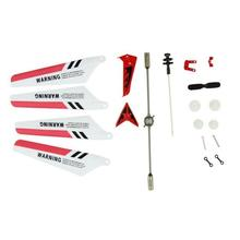 New Full Set Replacement Spare Parts for Syma S107 RC Helicopter Red for Syma S107 RC Helicopter(China)