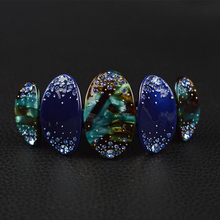 Women Hair Accessories 2017 Baroque Rhinestone Acetate Hair Barrette Fashion Rings Hair Clip For Women(China)