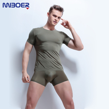 Mens Top Tees Transparent Bodybuilding Fitness Tshirt Short Sleeve Male Singlets Undershirts Sexy T-shirt ice silk 2018(China)