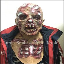 Horror Halloween Cosplay Party Costume Bloody Zombie Mask Melting Full Face Walking Dead Scary Carnival Mardi Gras Party Masks