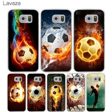 Lavaza Fire Football Soccer Ball Hard Transparent Cover Case for Samsung Galaxy A3 A5 J5 (2015/2016/2017) & J3 J5 Prime J7