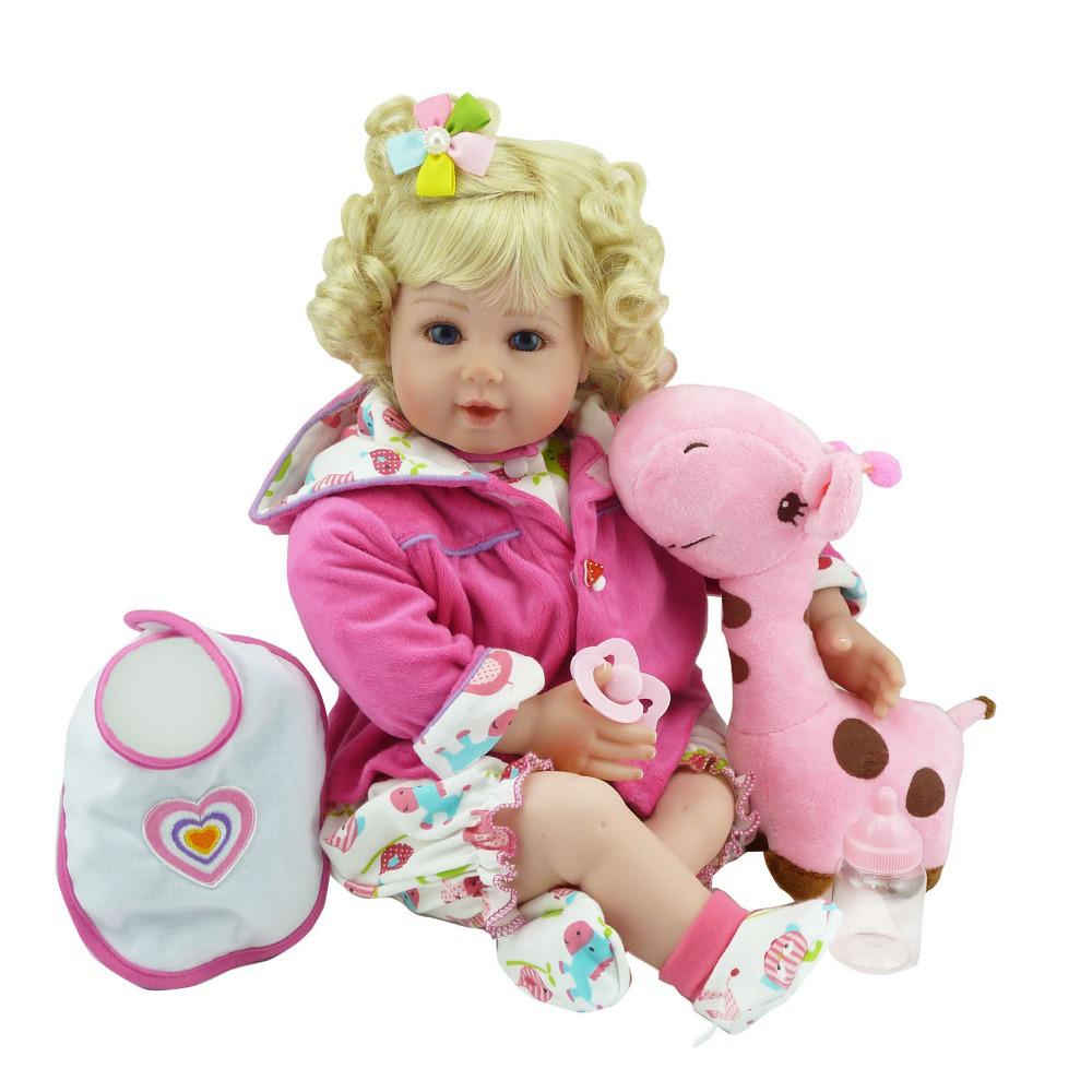 New Silicone Vinyl Adora Lifelike 20 Toddler Baby Bonecas Girl Kid Doll Bebe Reborn Menina De Silicone Toys For Children (5)