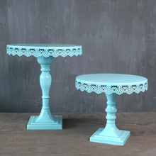Tiffany blue cake stand square feet stand us Cupcake holder tools for wedding party Bakeware tools table decoration