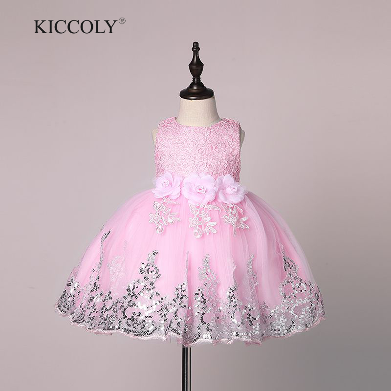 Silver Newborn Girl Christmas Dresses with Bead Bow infant Princess ...