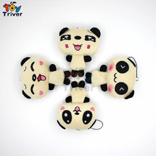 Wholesale 100pcs Cute Panda Doll Plush Toys Bag Purse Keychain Pendant Birthday Christmas wedding Party Small Gift Triver Toy