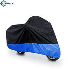 L/XL/XXL/XXXL Black+Blue Motorcycle Cover DustProof Waterproof Outdoor UV Protector Motor Motorbike Rain Covers For all Scooter(China)