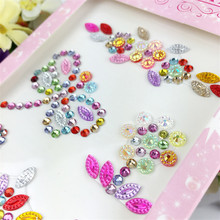 1 sheet Mixcolor Acrylic Beads Heart Sticker DIY Motif Rhinestones Sticker for Bags Garment Phone Nails Decoration(China)