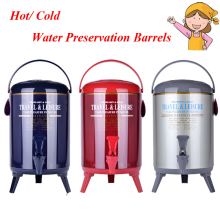 1pc 9.5L Keep Hot/ Cold Stainless Steel Commercial Heat Preservation Barrels for Water Coffee Drink Tea Soybean Milk IDB-1000ISH