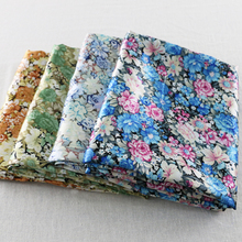 elegant flowers print charmeuse fabric sewing diy tissue satin material for patchwork