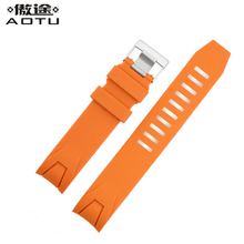 20MM Silicone Watch Straps For OMEGA SEAMASTER Planet Ocean Men Casual Watchbands Clock Watch Strap For Male Watch Belt Band(China)