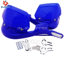 "ZJMOTO New Motocross Aluminum 7/8"" Off Road Dirt Bike MX ATV Brush Blue Hand Guard Protector For Yamaha YZ250 WR Free Shipping"