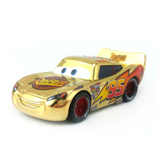 Disney Pixar Cars Metallic Finish Gold Chrome McQueen Metal Diecast Toy Car 1:55 Loose Brand New In Stock & Free Shipping(China)