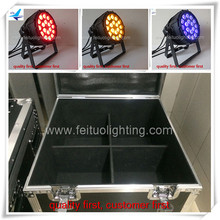 Outdoor concert stage led par stage light led par 18 x 18 w led rgbwa uv ip65 par can light flight case