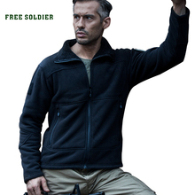 FREE SOLDIER hiking camping tactical outdoor fleece clothing thermal comfortable short plush men's jacket