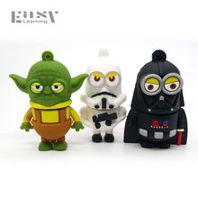 Cartoon Easy Learning USB 2.0 Star Wars USB Flash Drives Pendrive 64GB 32GB 16GB 8GB 4GB Pen Drive Memory Stick Gift(China)