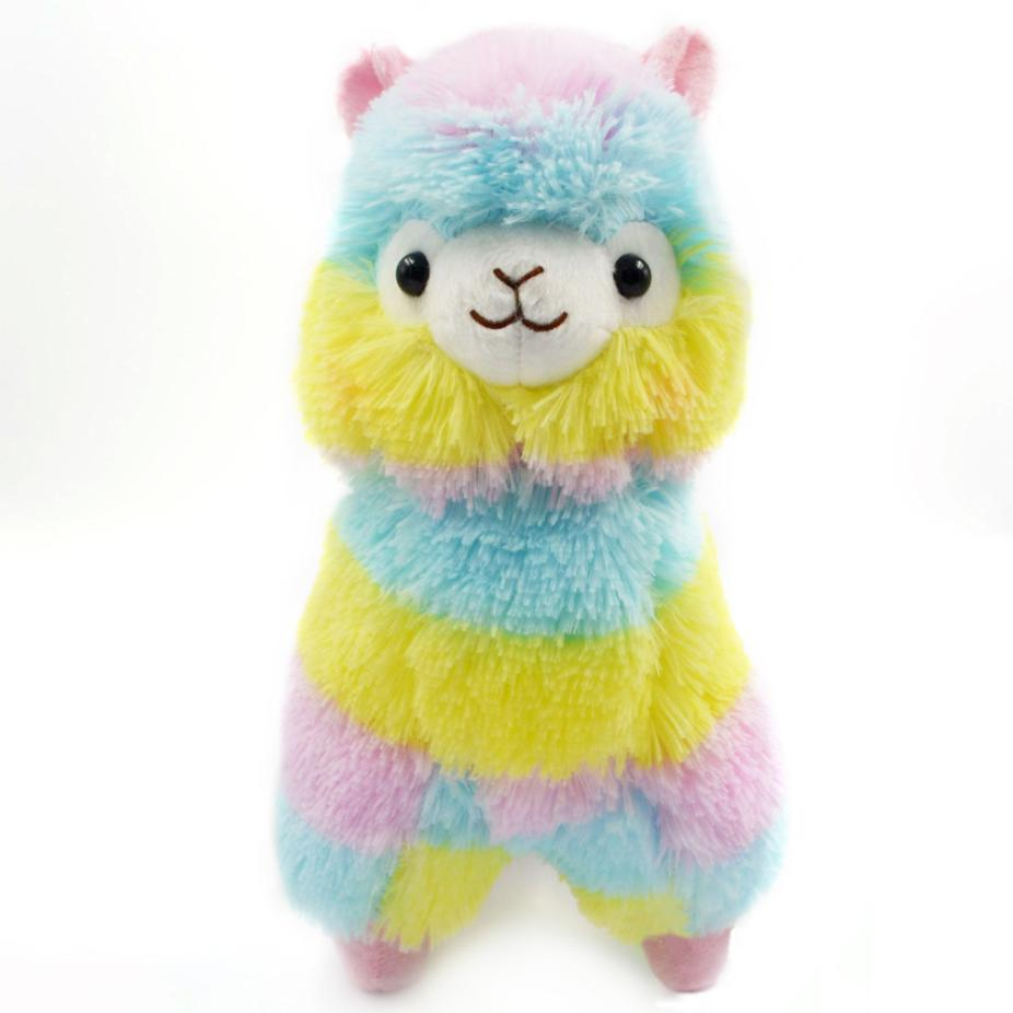 Rainbow Alpacasso Kawaii Alpaca Llama Decor Soft Plush Toy Pendat Bday Doll Gift