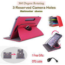 "For Ramos i9/i9 3G 8.9""inch 360Degree Rotating Universal Tablet PU Leather cover case Free OTG"