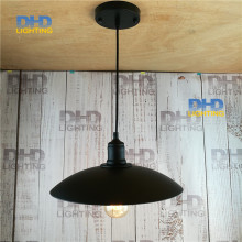 One sample order black iron shade Rural industry loft bar restaurant industrial elegant chandelier vintage pendant lamp