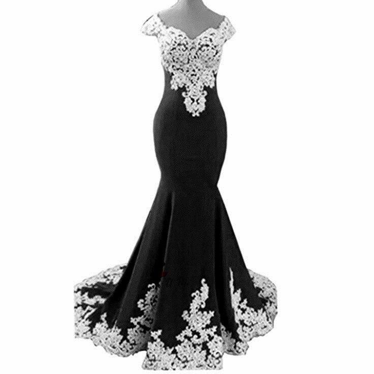 Blue Pink White Lace Mermaid Prom Dresses Long 2018 Cap Sleeve Vestidos de  Festa Chiffon Formal Evening Party Gowns Sweep Train. P358 (1) P358 (2)  P358 (3) ... 7c3cdd1f786f